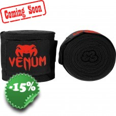 "Venum -""Kontact"" Boxing Handwraps - 4m (Black/Red)"