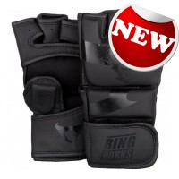 """Ringhorns - """"Charger"""" MMA Gloves - Black/Black"""