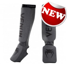 "Venum- ""Kontact Shinguards""-Grey/Black"