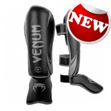 "Venum - ""Challenger"" Shinguards - Black/Grey"