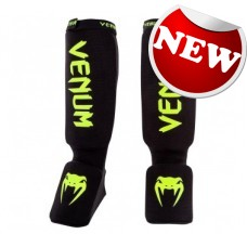 "Venum - ""Kontact Shinguards"" - (Black/Neo  Yellow)"