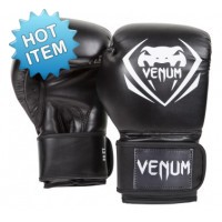 "Venum ""Contender"" Boxing Gloves - (Black)"