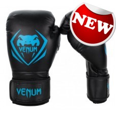 "Venum - ""Contender"" Boxing Gloves - (Black/Cyan)"