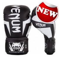"Venum - ""Elite Boxing Gloves"" - (Black/White)"