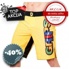 Grips - Fight Shorts Croco Yellow