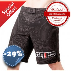 Grips - Fight Shorts Warriors Instict Black